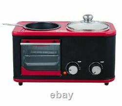 Electric 3 In 1 Household Breakfast Machine Mini Bread Toaster Baking Oven