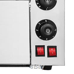 Electric 3000W Pizza Oven Double Deck Baking Oven Fire Stone Restaurant 110V