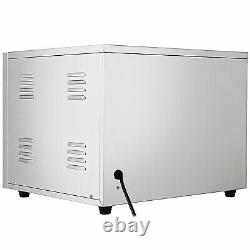 Electric 3000W Pizza Oven Double Deck Commercial Stainless Steel Bake Broiler