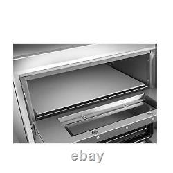 Electric 3000W Pizza Oven Double Deck Commercial Toaster Bake Broiler Oven 110V