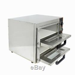 Electric Pizza Oven 2 x 16Twin Deck Commercial Baking Oven Fire Stone Catering