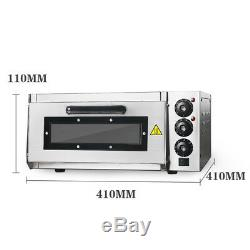 Electric Pizza Oven Single Deck 16 Commercial Baking Cake Bread Roasted Oven