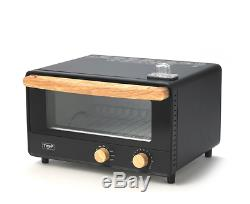 Electric Steam Toaster Mirror Oven Convection Stainless Steel Countertop Bake