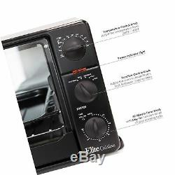 Elite Cuisine ERO-2008N Countertop XL Toaster Oven with Rotisserie, Bake, Gri