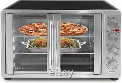Elite Eto-4510m Double Door Toaster Oven With Rotisserie- New Free Shipping