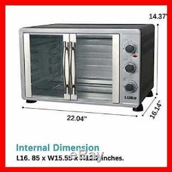 Extra LARGE Toaster Oven 18 Slices 14'' Pizza 20Lb Turkey SILVER Stainless Steel