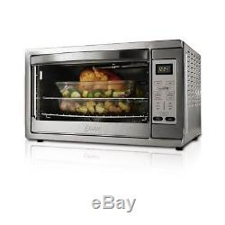 Extra Large Oster Digital Convection Toaster Oven Steel Counter Top Bake Broil