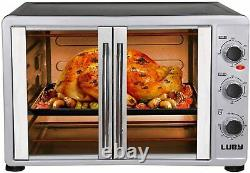 Extra Large Toaster Oven, 18 Slices, 14'' Pizza, 20lb Turkey, Stainless Steel
