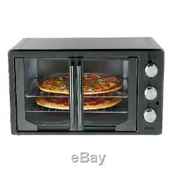 French Door Microwave Oven with Turbo Convection Durable Baking Broil Extra-Large