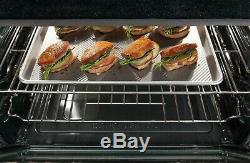 Frigidaire Gallery 30 Slide-in Black Gas Range with True Convection FGGS3065PB