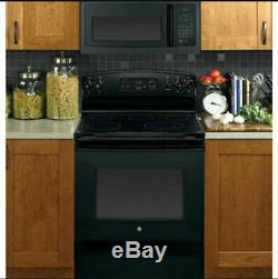 GE 1000W Over-the-Range Microwave with 1.6 Cubic Feet Capacity in Black