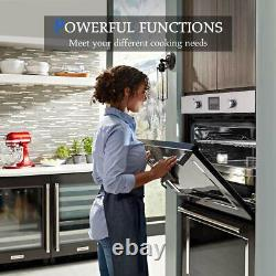Gasland Chef 24 Built-in Single Wall Oven with 9 Cooking Functions Digital