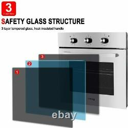 Gasland Chef ES609MS 24 Built-in Stainless Steel Electric Single Wall Oven, 240V