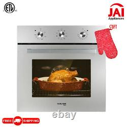 Gasland Chef ES609MS 24Built-in Single Wall Oven with 9 Cooking Functions 3200W