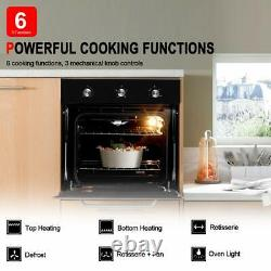 Gasland Chef GS606MB 24 Built-in Natural Gas Oven, 6 Cooking Functions, 120V