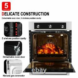 Gasland Chef GS606MSLP 24 Built-in Propane Gas Oven, 6 Cooking Functions, 120V