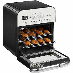 GoWISE GW44804 12.7-Quart 15-in-1 Programmable Air Fryer and Oven Combo, Silver