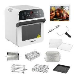 GoWISE USA Electric Air Fryer 12.7 Qt. 1600 W Rotisserie Oven White