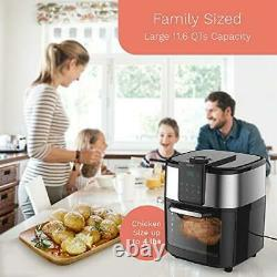 HOmeLabs 11.6 Quart XXL 8-in-1 Air Fryer Oven Bake, Broil, Dehydrate & More