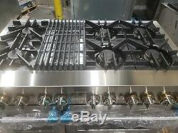 Jenn-Air Rise JDRP648HL 48 Stainless Steel Smart Dual Fuel Range withGas Grill