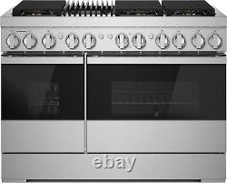 JennAir Noir JDRP648HM 48 Stainless Steel Smart Dual Fuel Range with Gas Grill