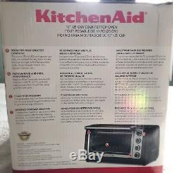 KitchenAid Steel 10 Convection Countertop Toaster Oven Bake Broil KCO111OB New