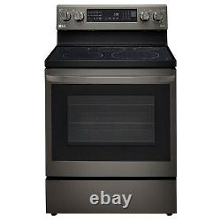 LG AirFry Smart WiFi Black Stainless Steel Electric Range