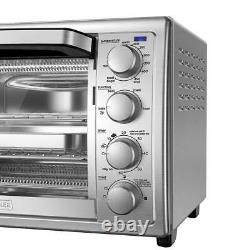 Large Size Countertop Convection Toaster Oven Stainless Steel 9 Slice NO SHIP CA