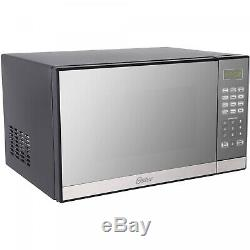 Microwave Oven Stainless Steel Mirror Finish Grill Small Portable 1000W 1.3cu ft