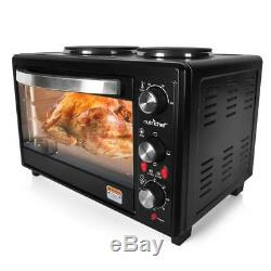 Multifunction Kitchen Oven, Countertop Rotisserie Cooker with Dual Hot Plates