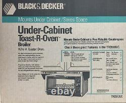 NEW Black & Decker Under Cabinet Toaster w Heat Guard Mounting Hood Toast-R-Oven