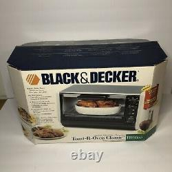 NEW IN BOX Black & Decker Toast-R-Oven Under Cabinet Stainless Spacemaker TRO355