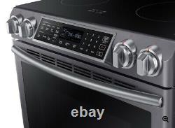 NEW Samsung Slide-In Induction Range with Virtual Flame in Black Stainless Steel