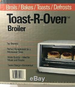 NIB Black & Decker Toast-R-Oven Bake Broil Under Cabinet TRO400 New