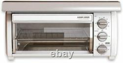 NIB Black & Decker Under Cabinet White Toaster Oven SpaceSaver Mounting Hood NEW