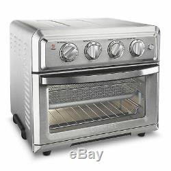 New Cuisinart COMBO Air FRYER n TOASTER OVEN TOA-60 Timer Bake Toast Fry 4lb