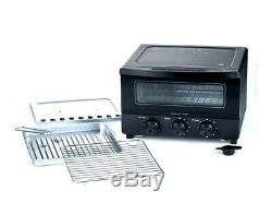 NulliPop Electric Steam Oven Toaster Convection Stainless Steel Countertop Bake