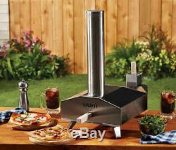 OONI-3A Outdoor Pizza Oven Wood Pellet Stainless, Stone Baking Board FAST COOKIN