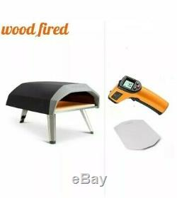 Ooni Koda Gas-Fired Outdoor Pizza Oven with Baking Stone, digi thermo, and peel