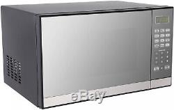 Oster 1.3 Cu. Ft Stainless Steel Mirror Microwave Oven With Grill 1000W Portable