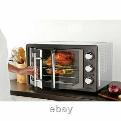 Oster French Door Turbo Convection Toaster Oven, Metallic and Charcoal(Open Box)