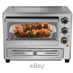 Oster Microwave Convection Toaster Oven with Dedicated Pizza Drawer Baking Pan