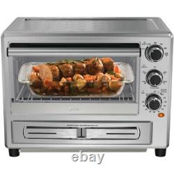 Oster TSSTTVPZDS Turbo Convection Toaster Oven with Pizza Drawer, Stainless Steel