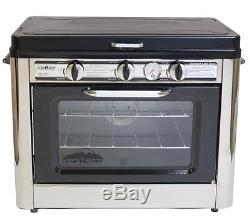 Outdoor Oven Gas Propane Camping Hunting 2-Burner Portable Stove Bake Grill RV