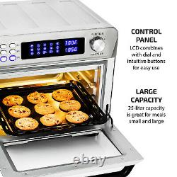 Ovente Digital Stainless Steel Multi-Function Air Fryer Oven Silver OFD4025BR