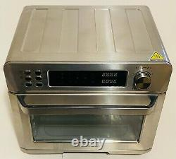 Ovente OFD4025BR Stainless Steel Multi-Function Air Fryer Oven Combo 26 Qt 1700w