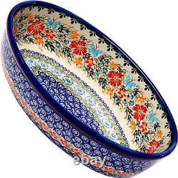 Polish Pottery Oval Baking Dish Microwave and Oven Safe