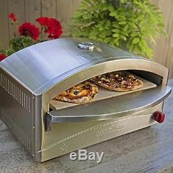 Portable Gas Pizza Oven Stainless Steel Outdoor Baking Restaurant Cooking Bread