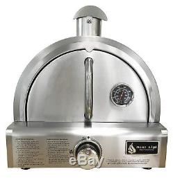 Portable Pizza Oven Large Table Top Propane Gas Stainless Steel with Stone Baking