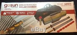 Portable Solar Grill Tube Oven Bake Boil Fry Outdoor Cooking Stainless Steel BBQ